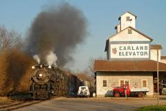 2007 April:  D&RGW 464 453 US 152 Flagg Coal 2 75 Pere Marquette 1225